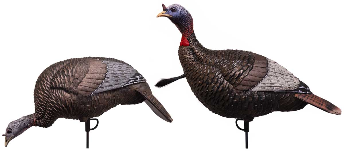 Flextone Thunder Jake 1/4 Strut & Feeding Hen Turkey Decoy Set