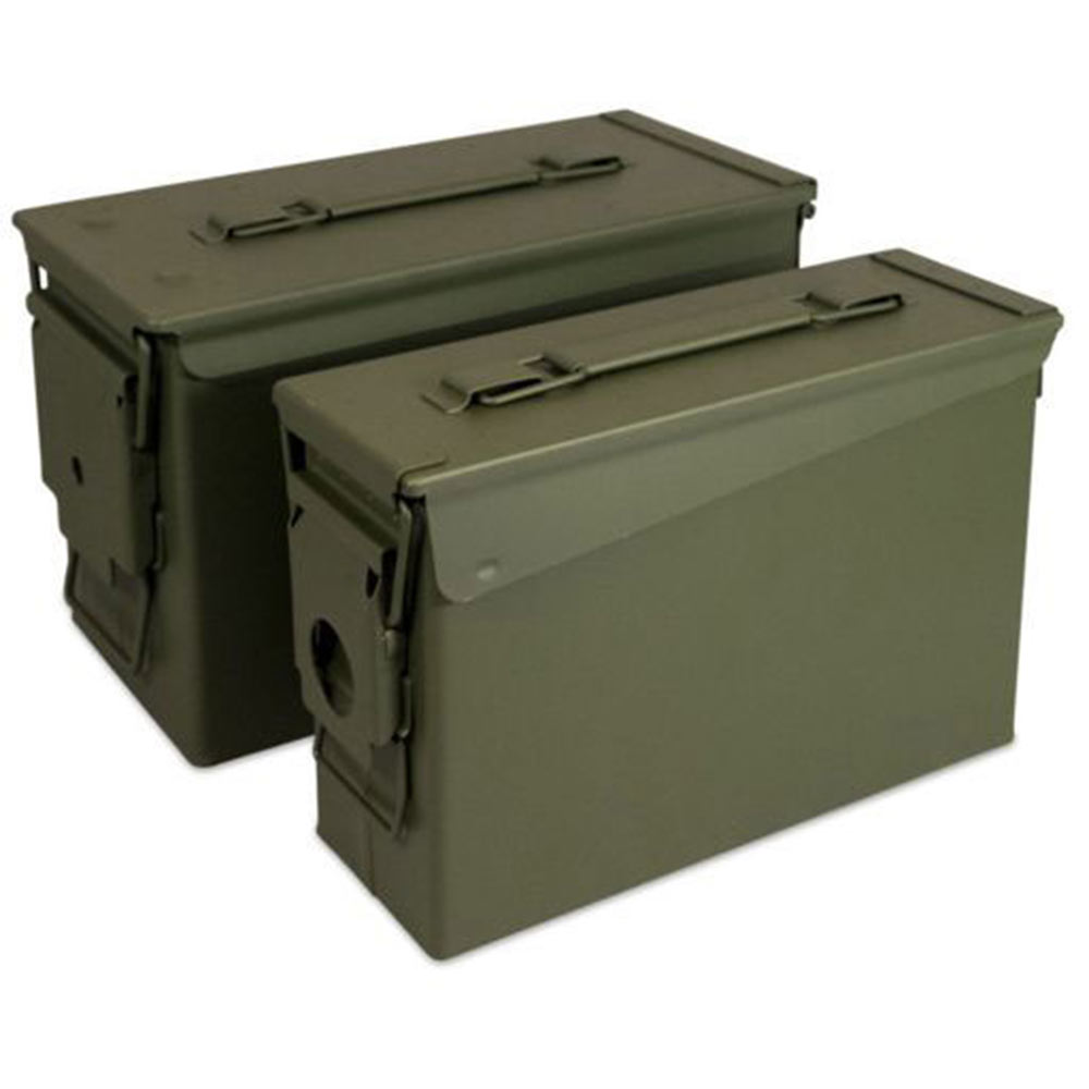 Focus On Tools 2 Metal Ammo Cans, 30 Cal. & 50 Cal.