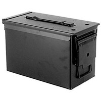 Focus-On Tools 50 Cal. Metal Ammo Can, Black