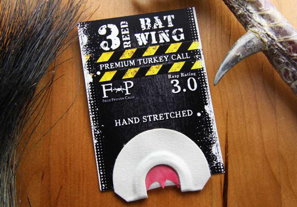 Field Proven 3 Reed Bat Wing Turkey Call