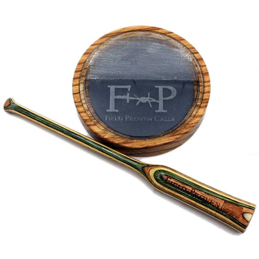 Field Proven Calls Turkey Pot Call, Zebrawood Combo