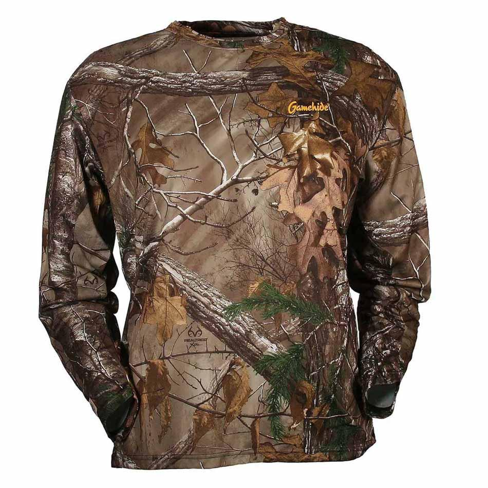Gamehide Elimitick Insect Repellent Bug Proof Long Sleeve Tech Shirt, Realtree Xtra_1.jpg