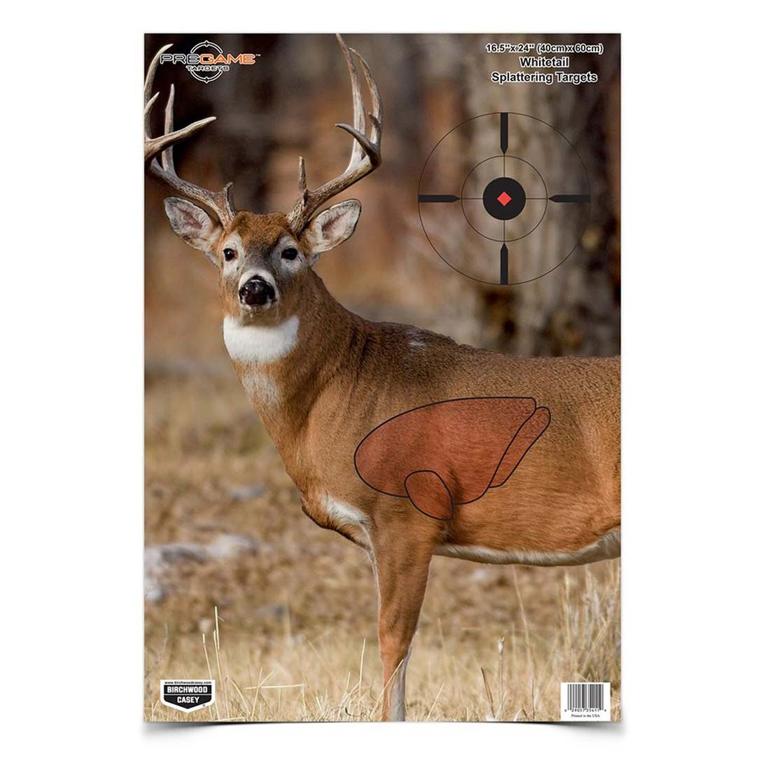 Birchwood Casey Pregame Whitetail Deer Paper Target - 3 Pack