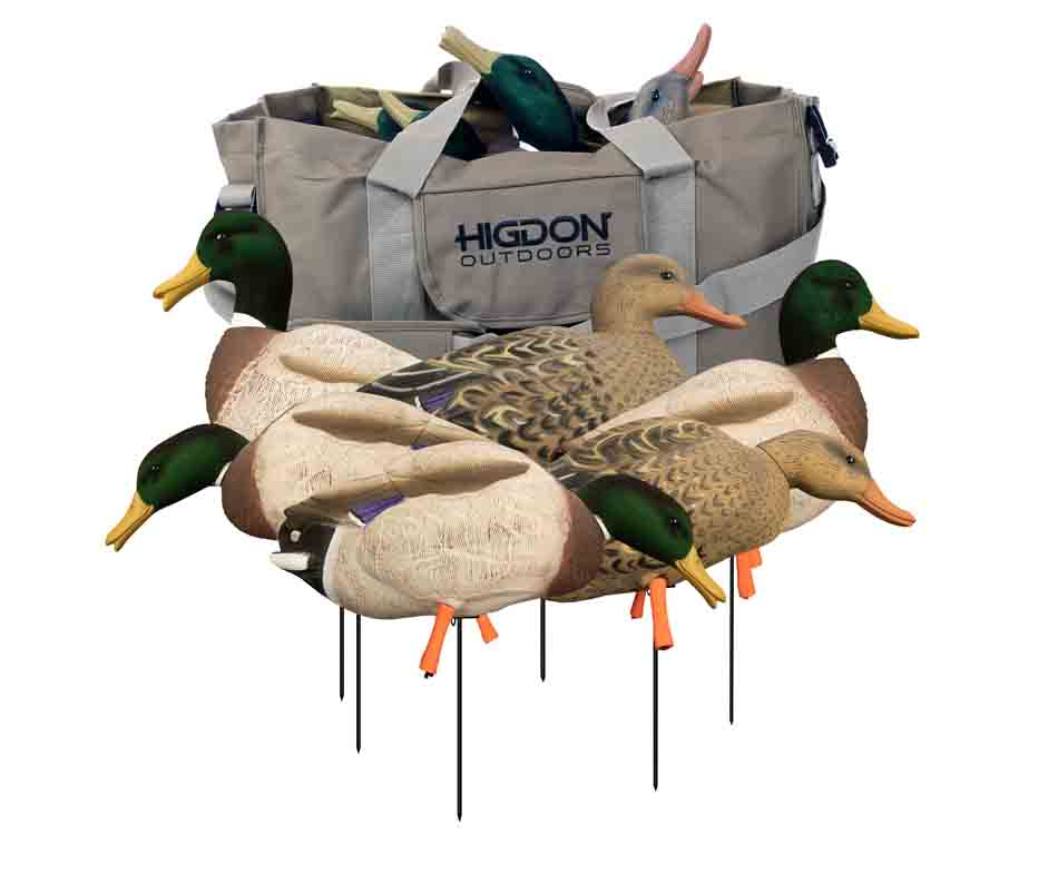 Higdon Decoys Magnum Full-Body Mallard, Variety 6 Pack with Flocked Heads and Free Bag_1.jpg