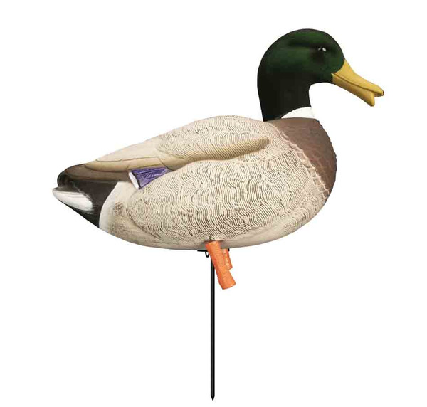 Higdon Decoys Magnum Full-Body Mallard, Variety 6 Pack with Flocked Heads and Free Bag