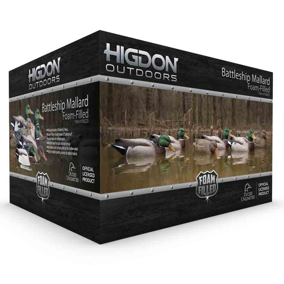 Higdon Battleship Super Magnum Foam Filled Mallard Floaters, 6 Pack_2.jpg
