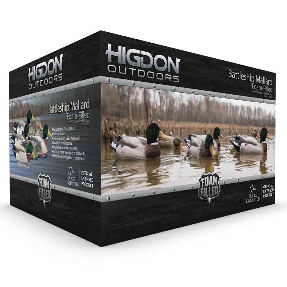Higdon Outdoors Battleship Foam Filled Mallards, 6 Pack_2.jpg