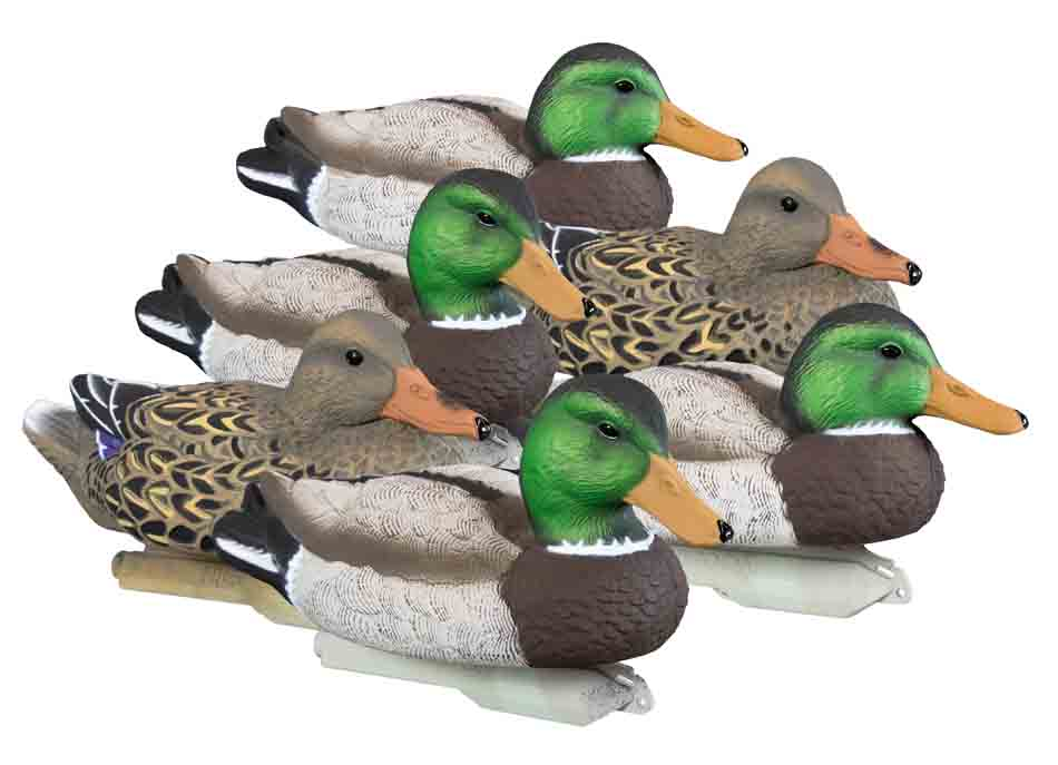 Higdon Outdoors Foam Filled Standard Mallard Floating Decoys, 6 Pack_1.jpg