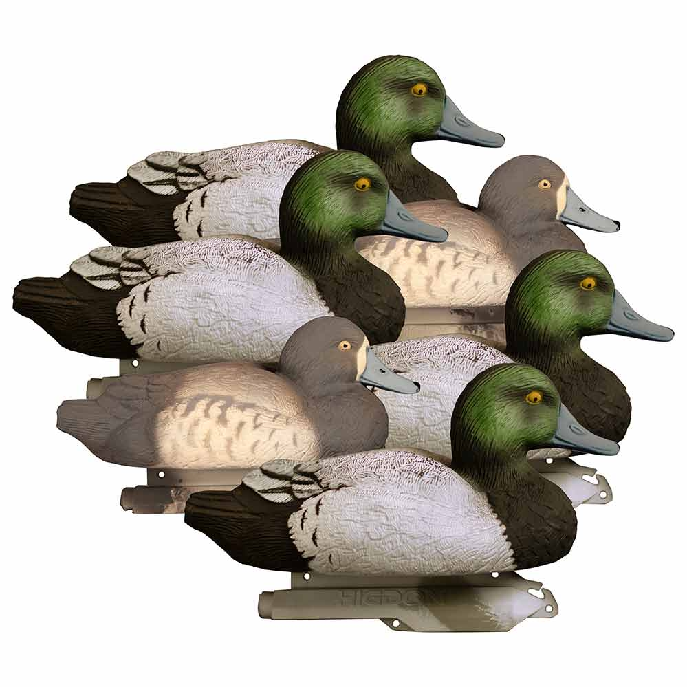 Higdon Decoys Foam Filled Standard Floating Bluebill Decoys, 6 Pack_1.jpg