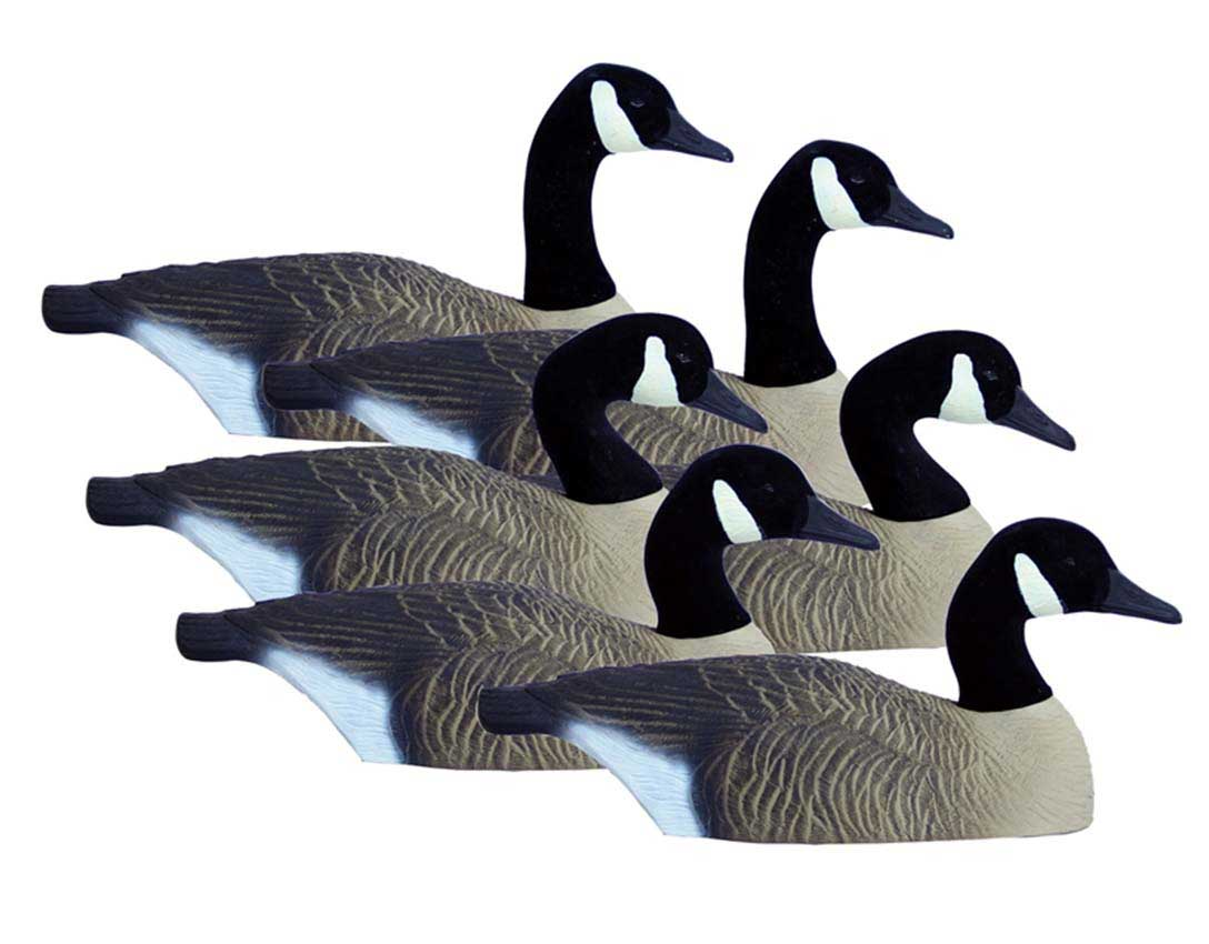 Higdon Standard Canada Half Shell Goose Decoys, 6 Pack