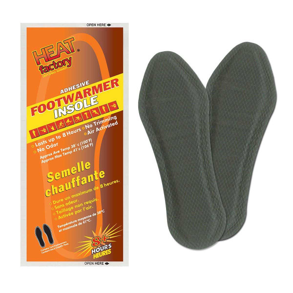 Heat Factory 8-Hour Adhesive Insole Foot Warmers, Pack of 2