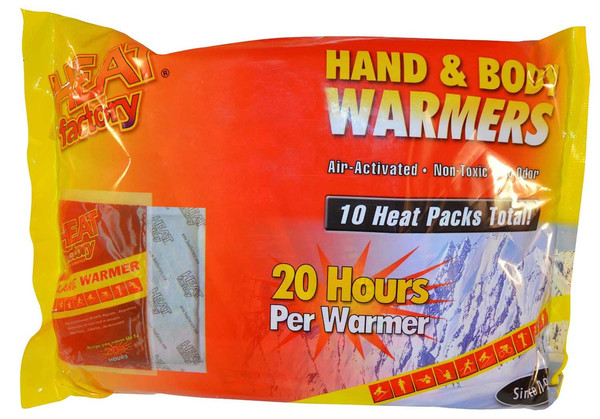 Heat Factory Hand and Body Heat Warmers, 10 Pack