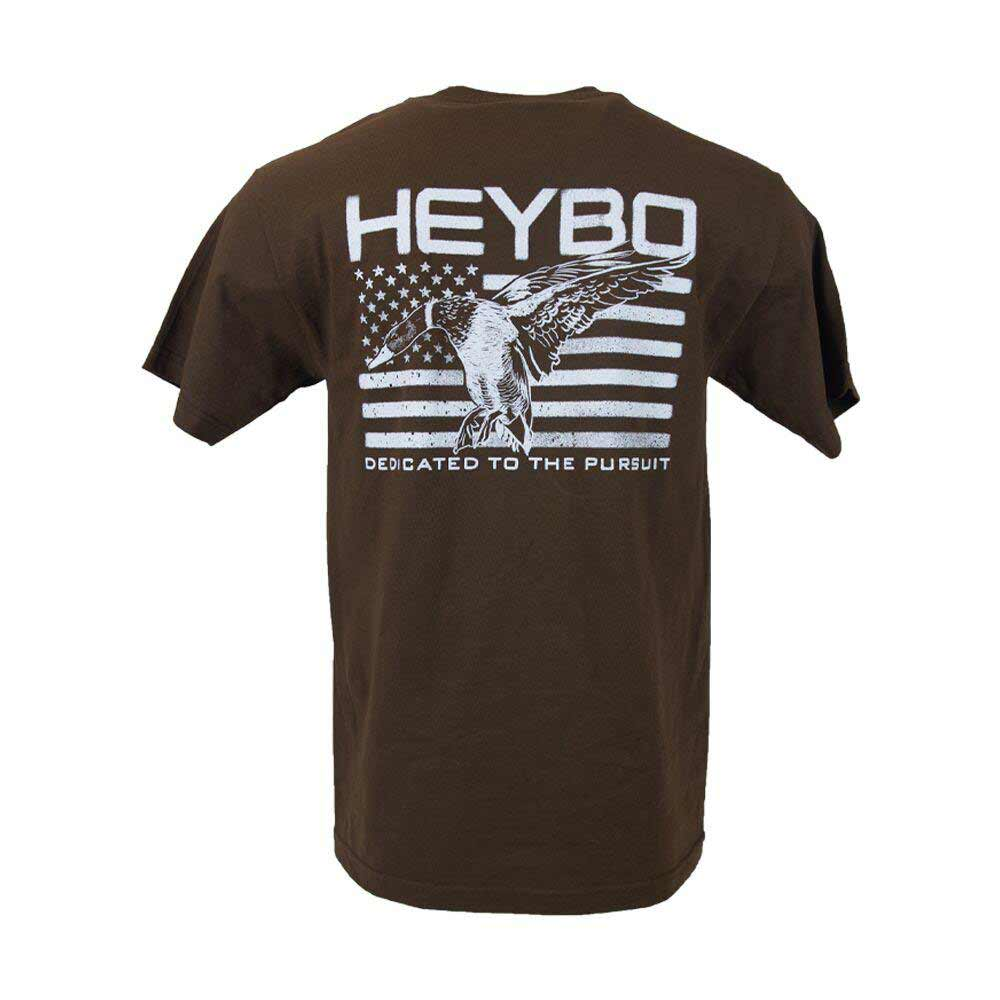 HEYBO Mallard Flag Short Sleeve Tee, Coffee_1.jpg