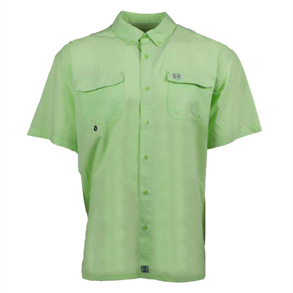 HEYBO The Boca Grande Short Sleeve Fishing Shirt, Patina Green_1.jpg