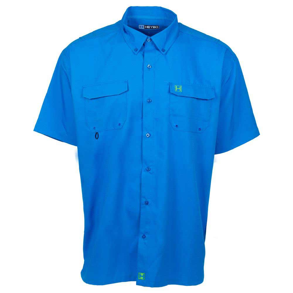 HEYBO The Boca Grande Short Sleeve Fishing Shirt, Ocean Blue_1.jpg