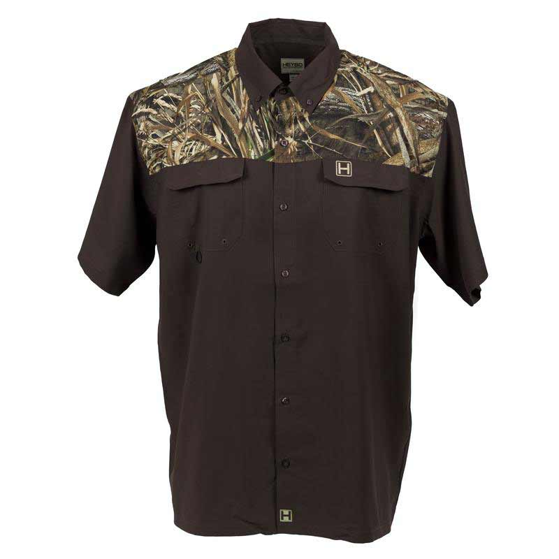 fd04fee60 HEYBO The Outfitter Shirt Short Sleeve, Chocolate/Max 8