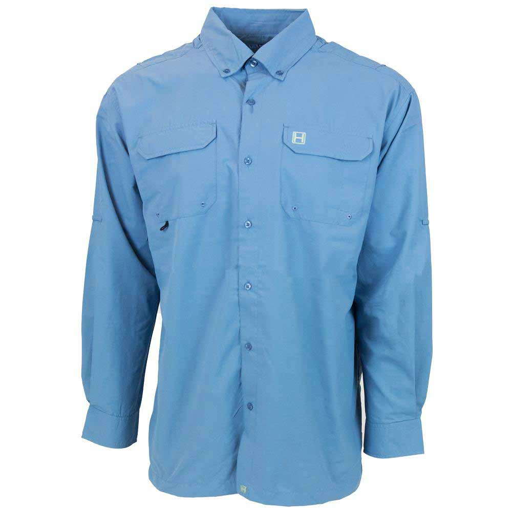 HEYBO The Boca Grande Long Sleeve Fishing Shirt, Slate_1.jpg