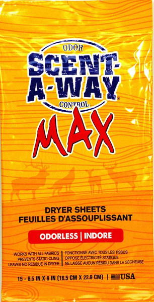 Hunter Specialties Odorless Scent-A-Way® Max Dryer Sheets