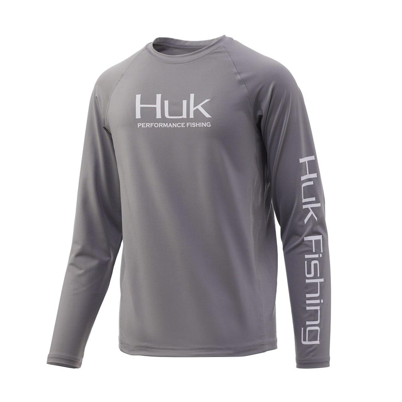 Huk Youth Pursuit Vented Long Sleeve Shirt - Sharkskin_1.jpg