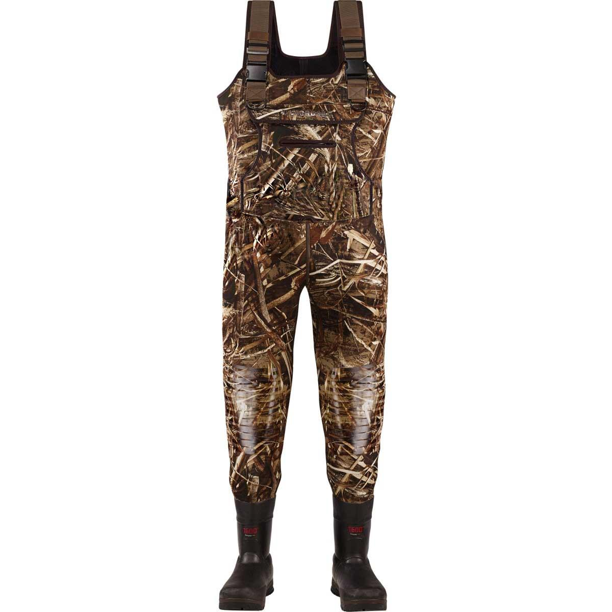 Lacrosse Swamp Tuff Chest Waders, 1600g in Realtree Max 5, Medium Sizes