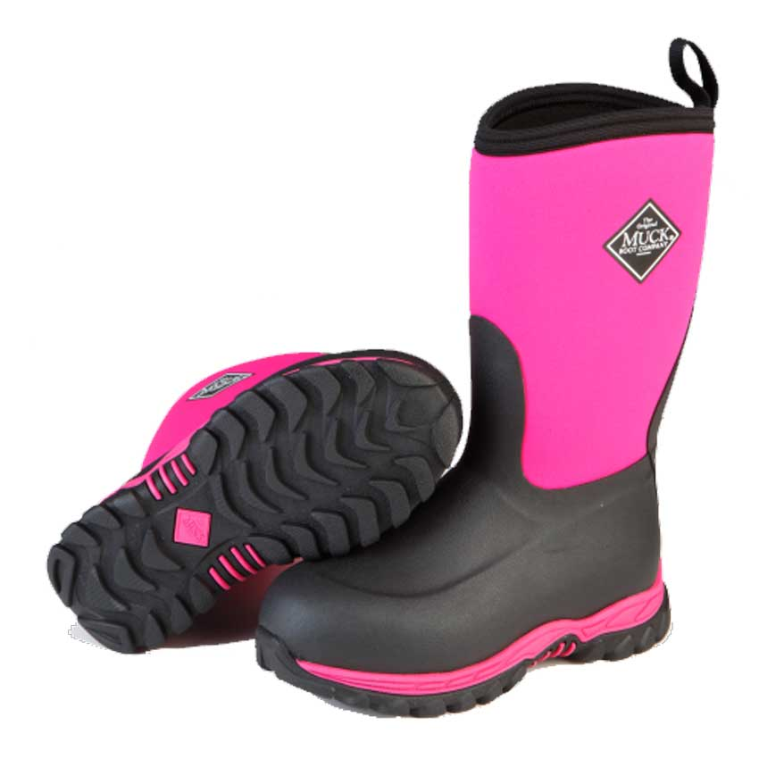 Muck Boots Kid's Rugged II Boots in Black/Pink