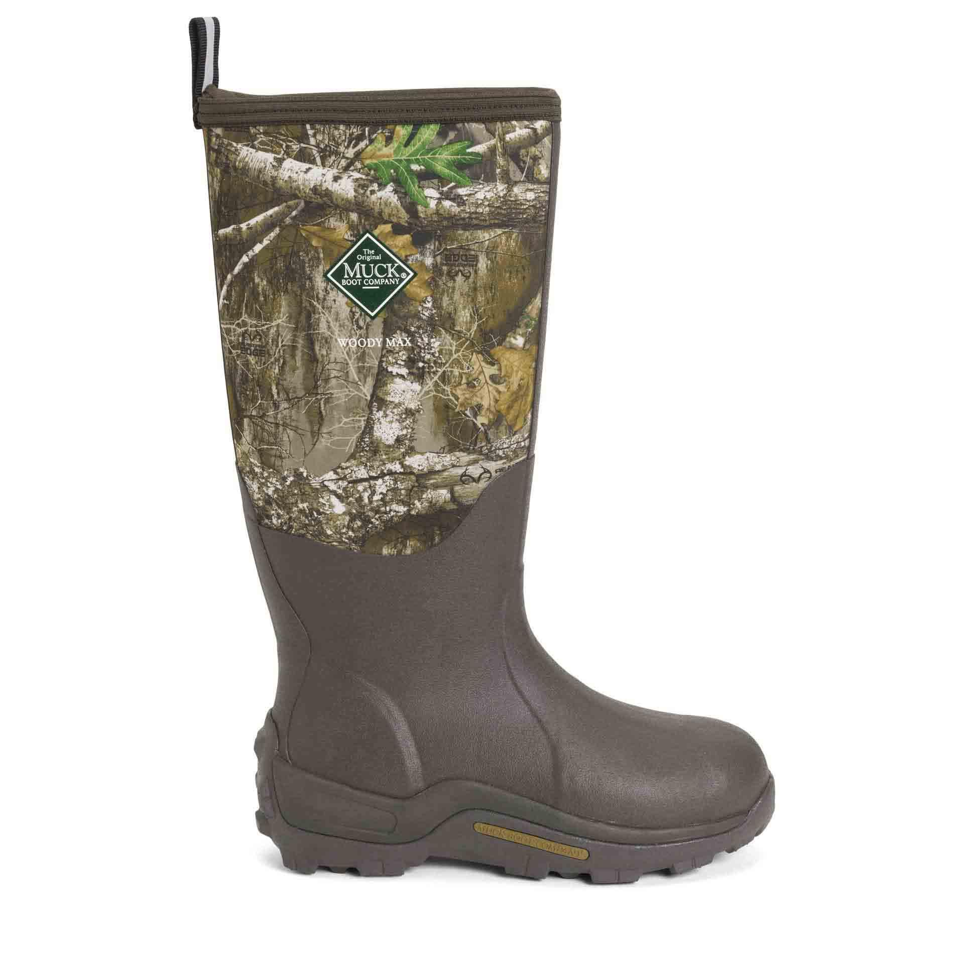 Muck Woody Max Rubber Hunting Boot Brown Realtree Edge
