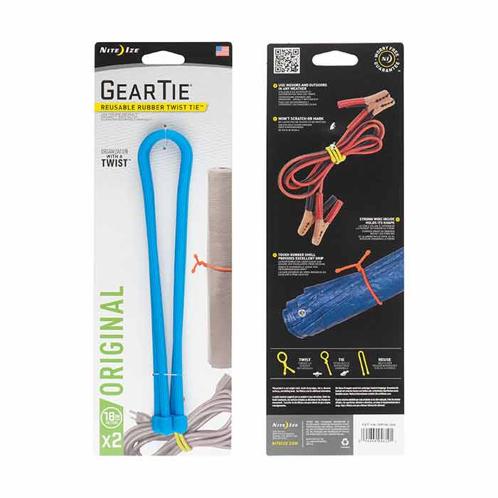 "Nite Ize Gear Tie Reusable Rubber Twist Tie™ 18"" - 2 Pack - Bright Blue_1.jpg"