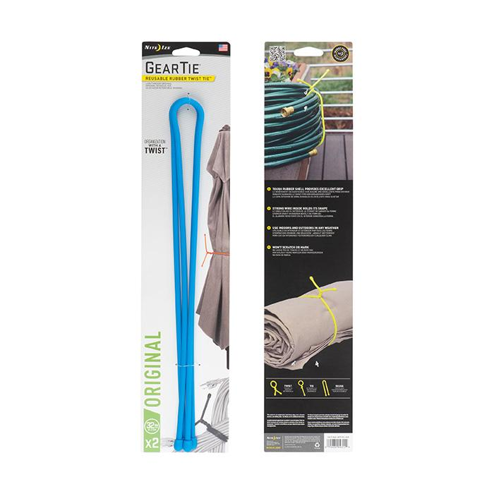 "Nite Ize Gear Tie Reusable Rubber Twist Tie™ 32"" - 2 Pack - Bright Blue_1.jpg"