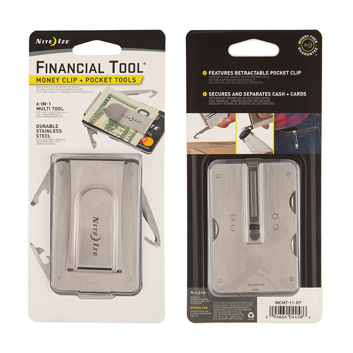 Nite Ize Financial Tool Money Clip + Pocket Tools