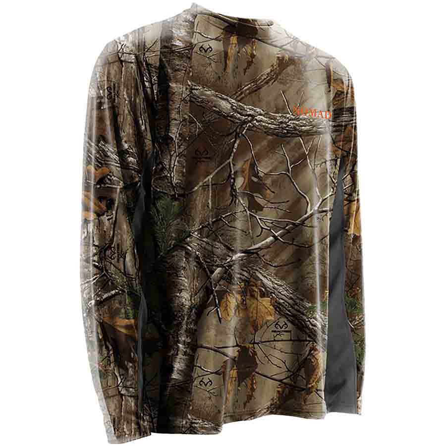 Nomad Long Sleeve Cooling Tee, Realtree Xtra