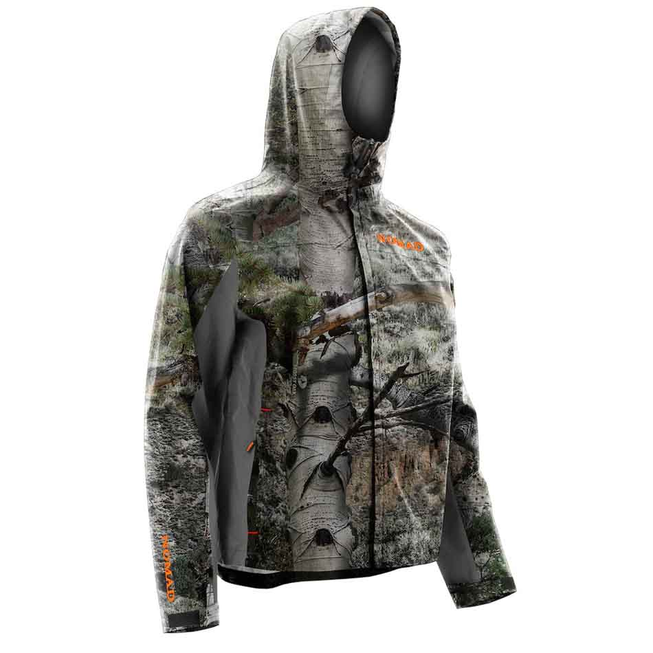 Nomad CYA Packable Rain Hoodie, Mossy Oak Mountain Country