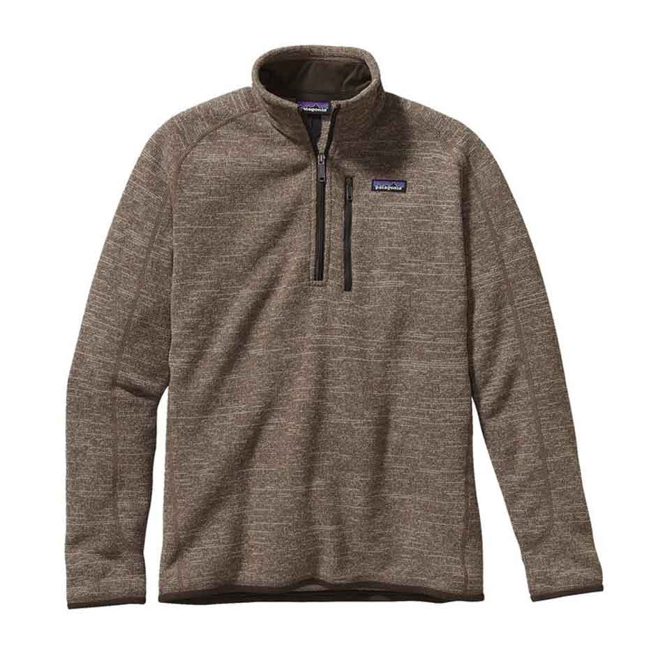 Patagonia Mens Better Sweater 1/4-Zip Fleece, Pale Khaki