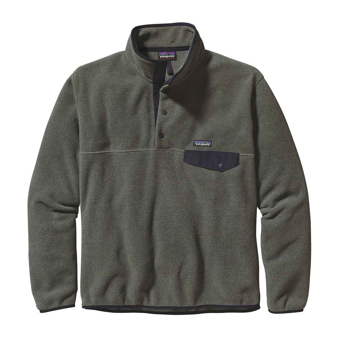 Patagonia Synchilla Snap-T - Nickel w/ Navy Blue
