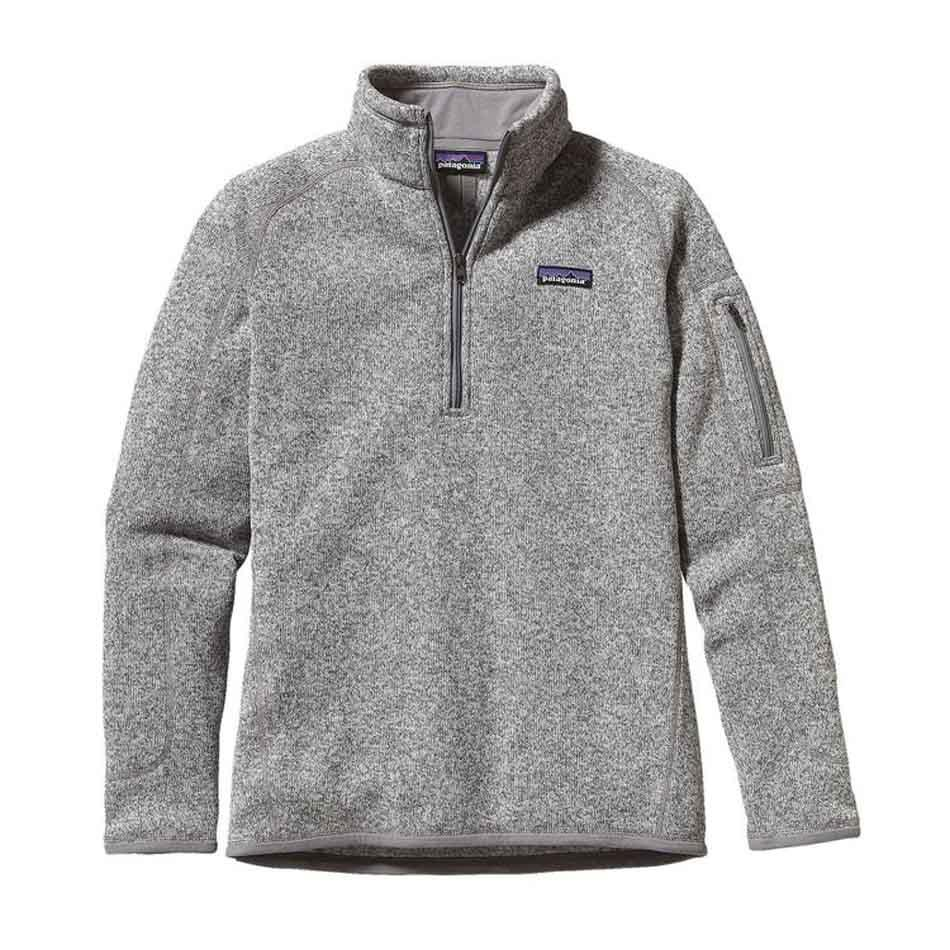Patagonia Womens Better Sweater 1/4-Zip Fleece, Birch White