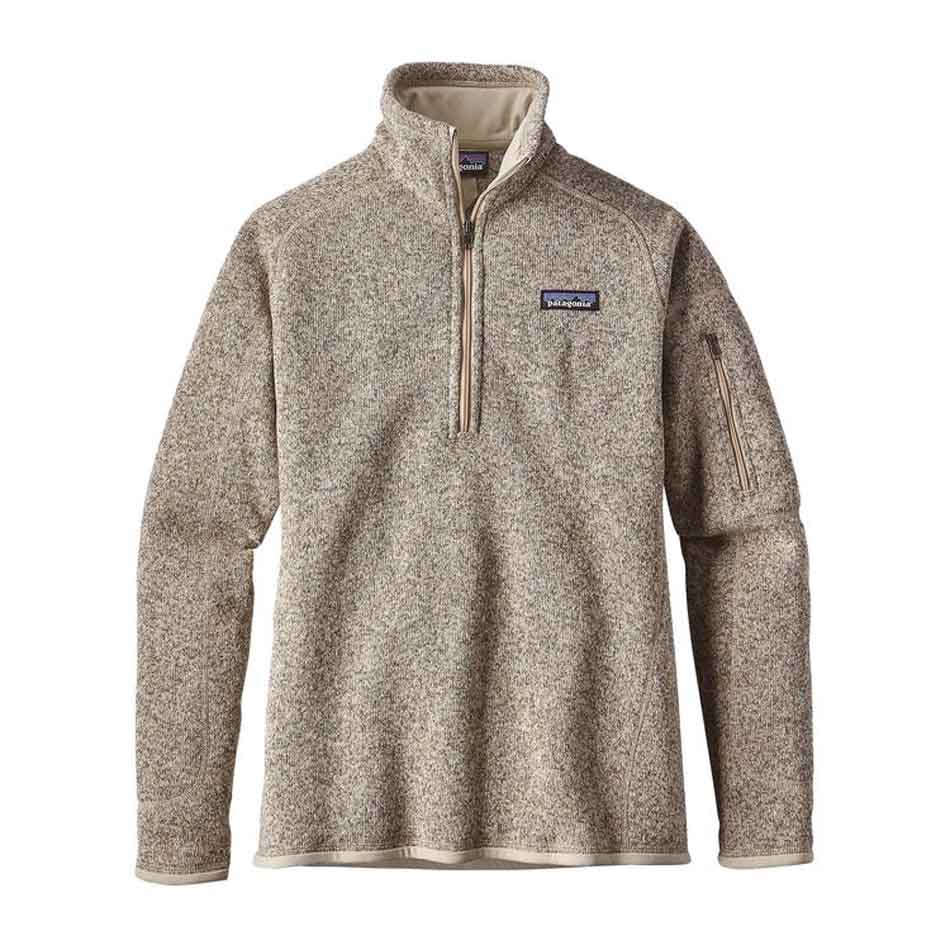 Patagonia Womens Better Sweater 1/4-Zip Fleece, Pelican