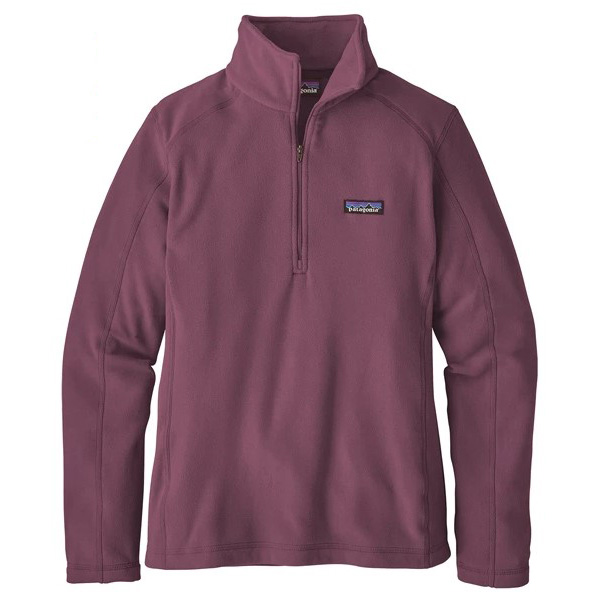 Patagonia Women's Micro D 1-4 Zip - Black - Hazy Purple