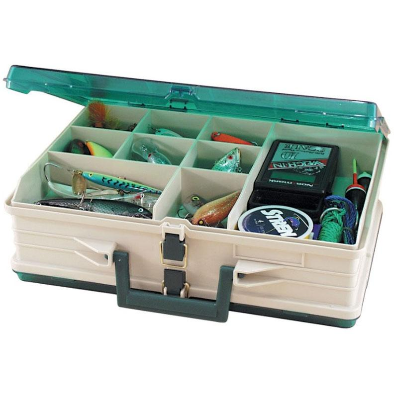 Plano Double Sided Tackle Box - Sandstone and Green_19 Compartments.jpg