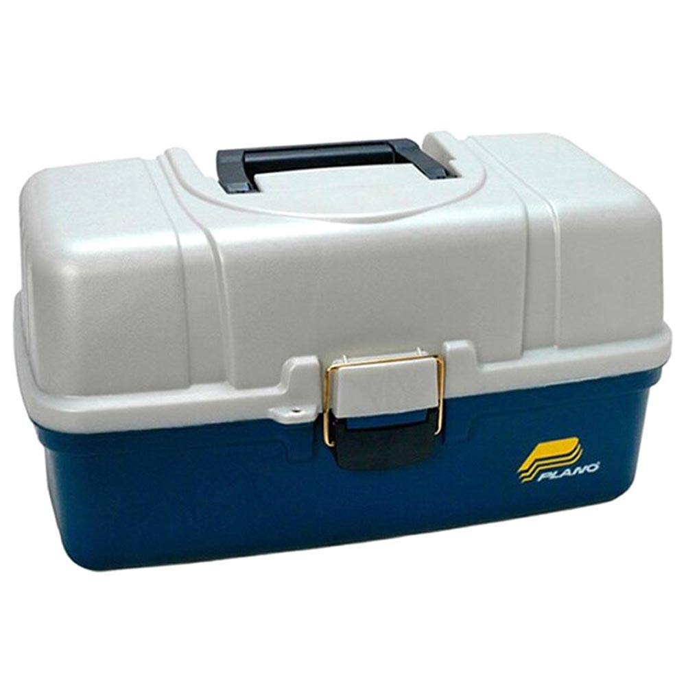 Plano Three-Tray Fixed Compartment Tackle Box XL Blue/Silver_1.jpg