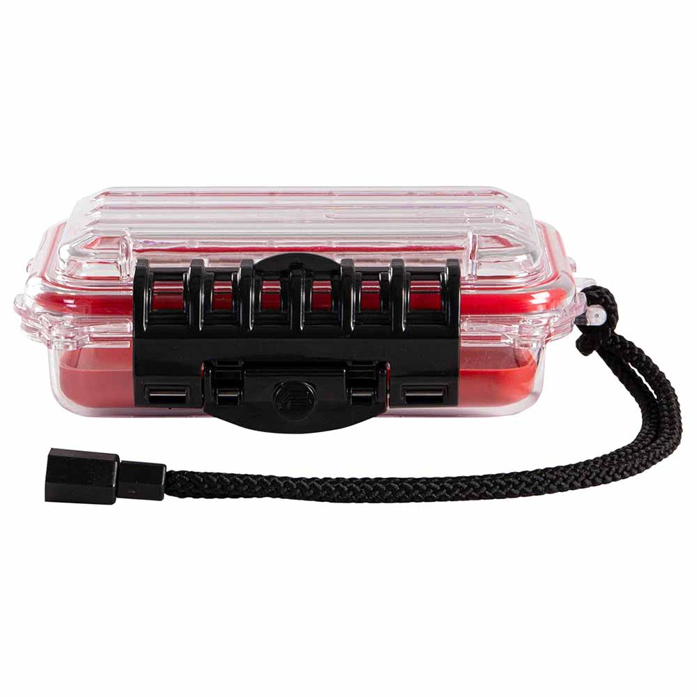 Plano Guide Series 3400 Waterproof Case, Red/Clear