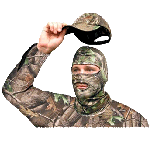 Primos Full Hood Stretch-Fit Face Mask in Realtree APG