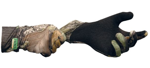 Primos - Stretch-Fit Gloves with Sure-Grip & Extended Cuff - Realtree APG