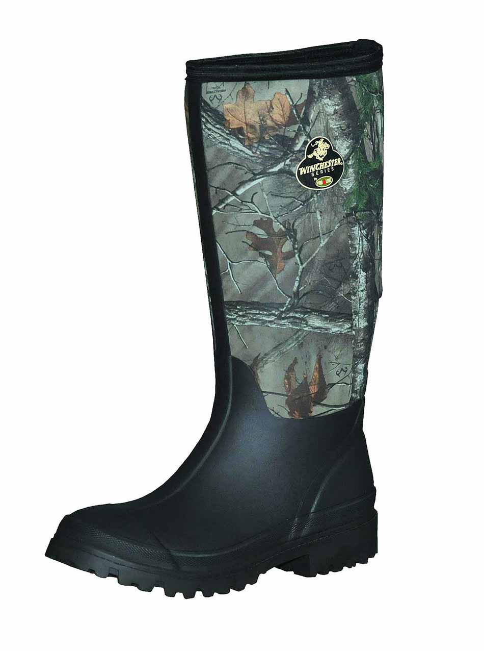 """Winchester Pro Line Pine Ridge 16"""" Rubber Boot in Realtree Xtra_1.jpg"""