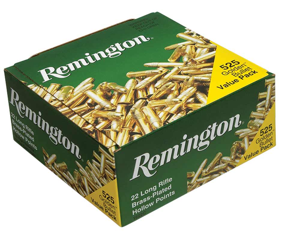 Remington Golden Bullet Brass Plated Hollow Point .22 LR, Box of 525_1.jpg