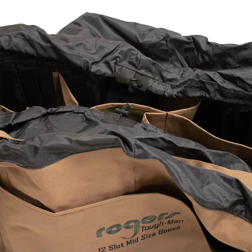 Rogers 12 Slot Mid Size Goose Bag with Draw String Closure - Khaki_4.jpg