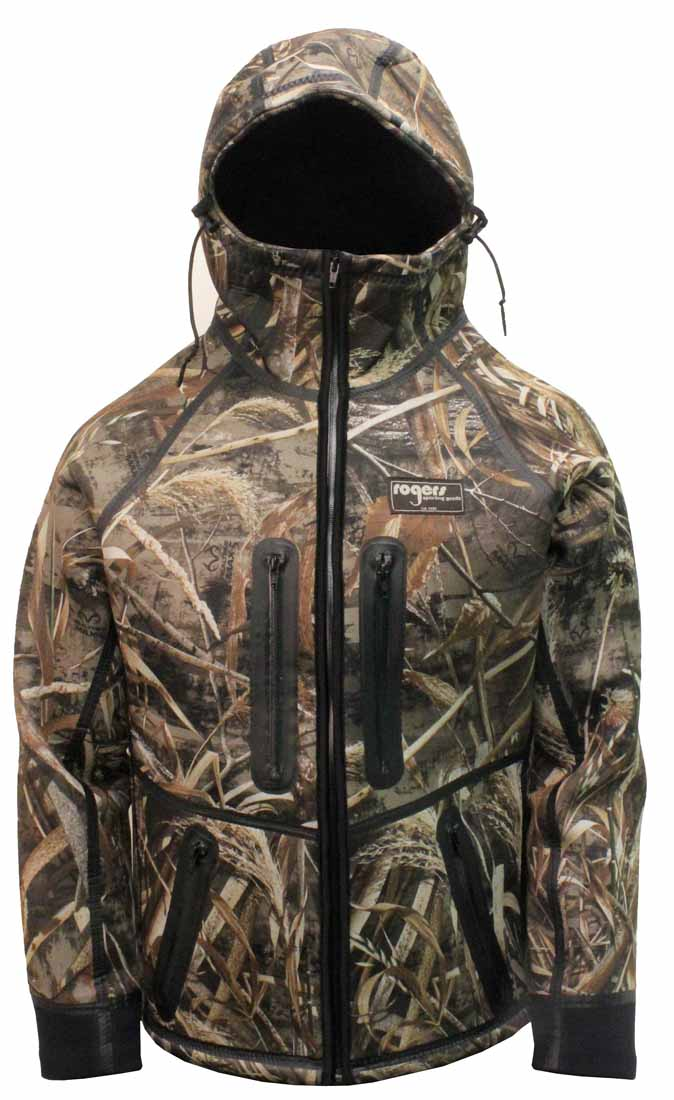 7d74c51394953 Rogers 7201 Extreme Weather Neoprene Jacket, Realtree Max 5
