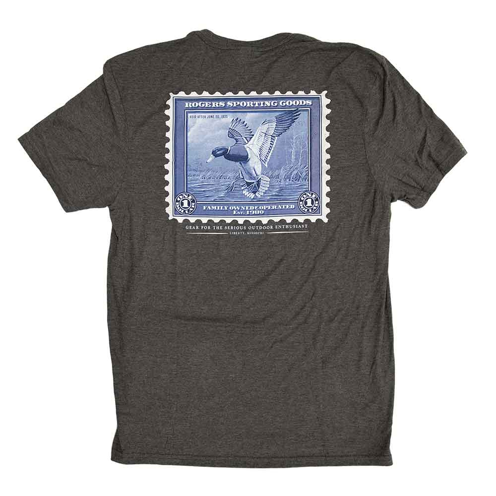 Rogers Duck Stamp Short Sleeve T-Shirt, Heathered Charcoal_1.jpg
