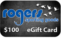 Rogers Sporting Goods $100 Online Gift Certificate
