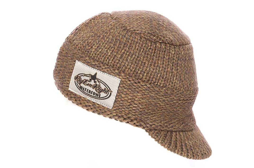Rig'Em Right Heavy Weight Billed Knit Beanie - Olive Timber_1.jpg