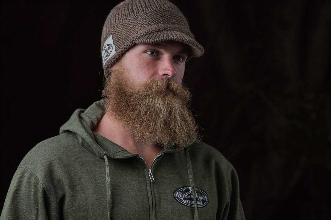 Rig'Em Right Heavy Weight Billed Knit Beanie - Olive Timber_4.jpg