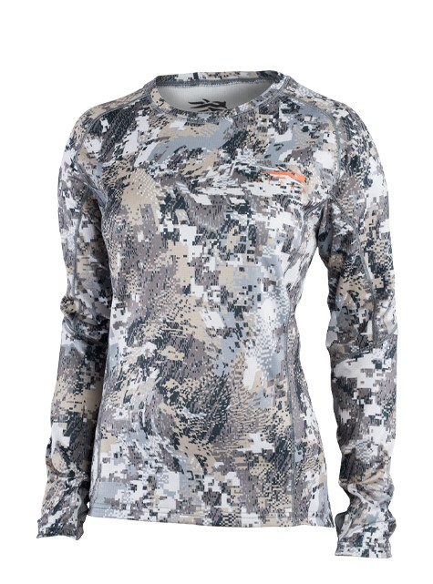 Sitka Women's Core Midweight Long Sleeve Crew - Optifade Elevated II